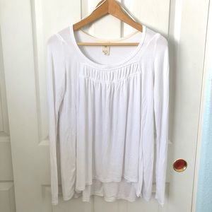Free people we the free white long sleeve top